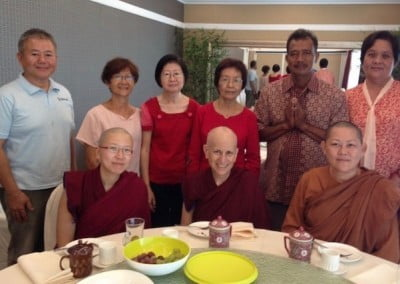 Abbey nuns with Ven. Dhammika and the generous lay people who offered lunch.