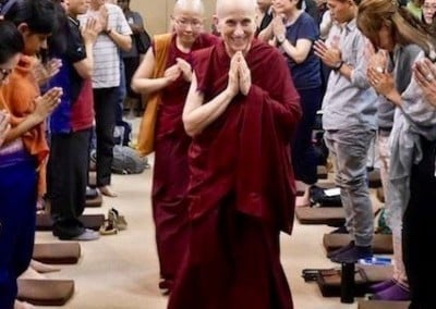Ven. Chodron teaches at Singapore's largest temple, Kong Meng San Phor Kark See Monastery, where she has spoken many times.