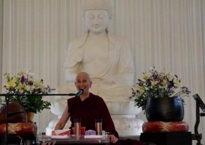 Poh Ming Tse Temple helps to launch Good Karma, Ven. Chodron's newest book.
