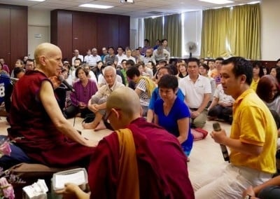 Many old friends and new faces attend the Buddhist Fellowship talks.