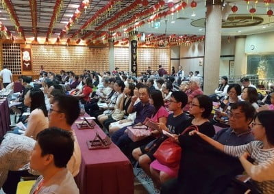 Singaporeans attending teachings