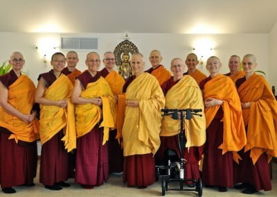 A group photo of the Abbey sangha