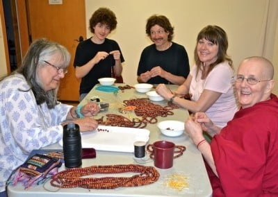 Making malas for men in prison makes this group extremely joyful.