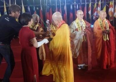 Ven. Chodron receives the award.