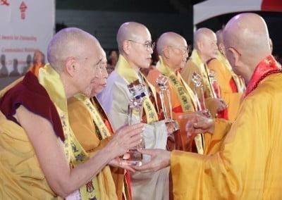Nun giving award to nuns