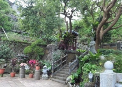 The retired and current abbesses of the temple show off their gardens and grounds.