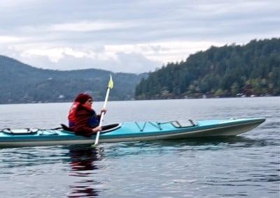 Nun kayaking