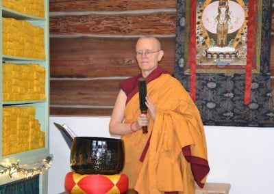 Ven. Tarpa will ring the gong during the ceremony.