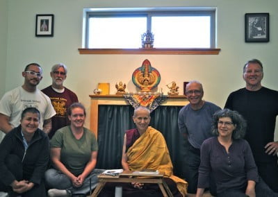 A number of our guests take refuge and precepts with Ven. Chodron as preceptor.