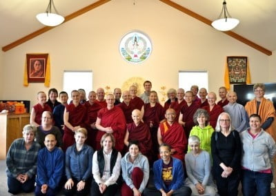 Group photo with Geshe Dadul
