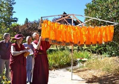 Buddhist Nun Buddha Garden Offering service Tsepal