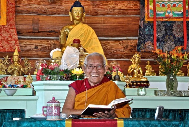 Guest teacher Geshe Yeshe Thabkhe is a renowned scholar.