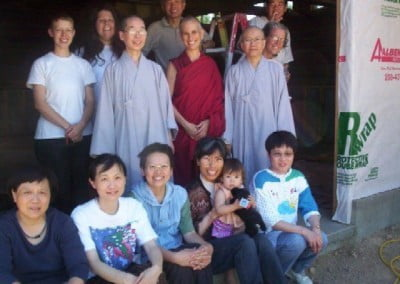 Venerable Jendy, Venerable Chodorn, members of Chi Yuan and Sravasti Abbey 'community'.