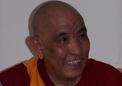 Khensur Rinpoche's face radiates bodhichitta.