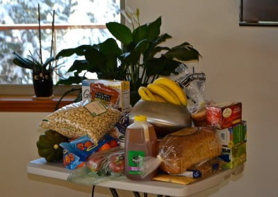 An abundant food offering from our guests.