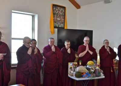 The sangha responds to the generosity of others with much gratitude.