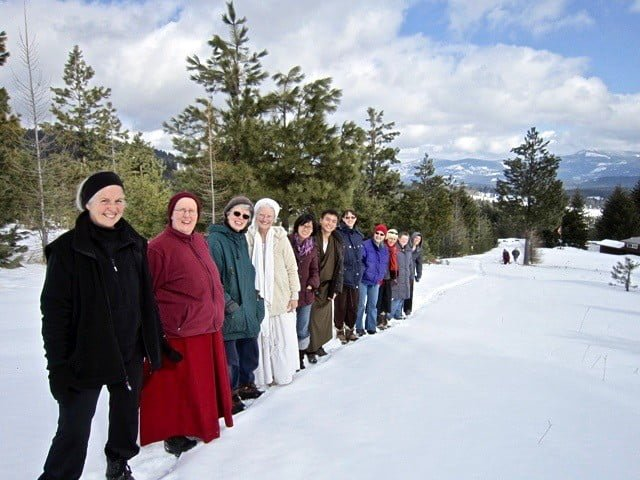 Hundreds join in the winter Retreat from Afar.