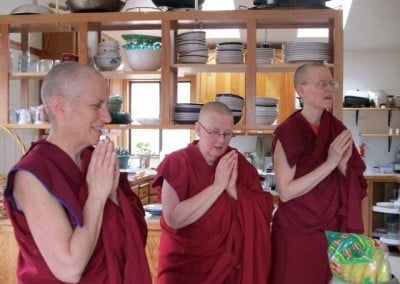 "The sangha responds with gratitude, ""Your generosity is inspiring, and we are humbled by your faith in the Three Jewels . . . Together we will create peace in a chaotic world."""