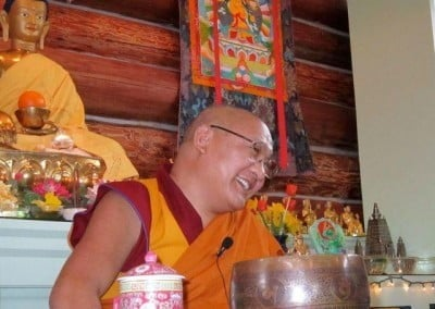 Geshe Phelgye delights in sharing the Dharma.