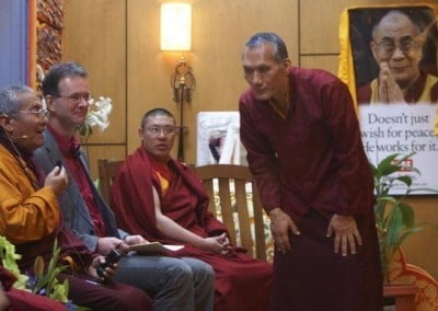 Yangsi Rinpoche, founder and president of Maitripa College (on right).