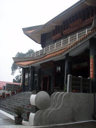 Entrance of the main Buddha hall at Luminary Temple