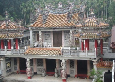 A prominent building at Luminary Temple housing a room dedicated to Kuan Yin.