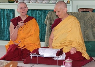 Venerable Thubten Chonyi shares how this ceremony symbolizes the dependent arising of everything that occurs at Sravasti Abbey since it's founding.