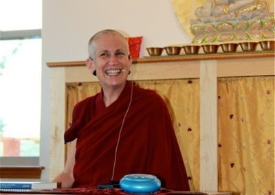 Venerable Thubten Chodron joyfully teaches how to transform suffering.