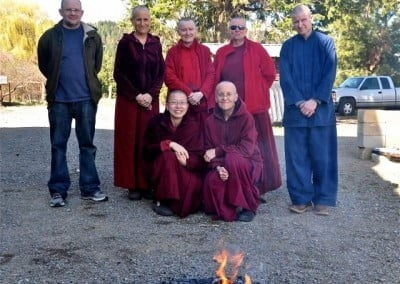 The harmonious 2015 Manjushri retreatants with Venerable Chodron.