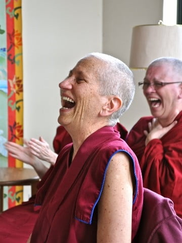 Venerable Chodron's response to Shane's solution and to the skits overall.