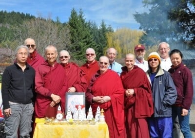 We did it! A photo of the courageous Yamantaka group with Jhampa and his assistant, Paul.