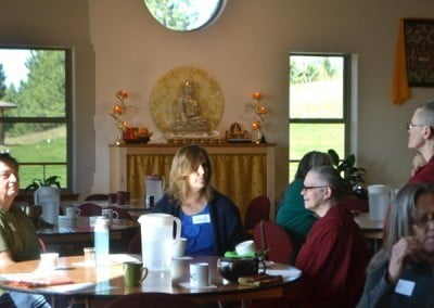 Venerable Yeshe catches up with David and Janet from Coeur d'Alene.