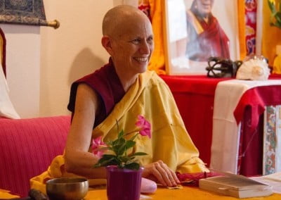Venerable Chodron speaks at Tibethaus, Frankfurt, on Living with an Open Heart.