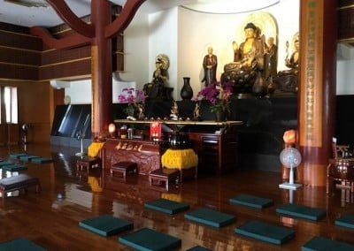After the ordination, the nuns and Venerable Damcho's parents visited<br> Luminary Temple together. This is their Buddha Hall.