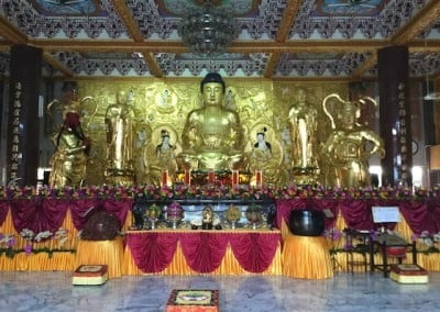 The main Buddha Hall where most of the ceremonies, chanting, and repentance took place.