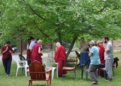 Each morning the group welcomed Venerable Chodron into the circle for group discussion and sharing.