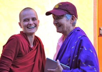 Venerable Thubten Jampa and Mary Grace enjoy the moment.