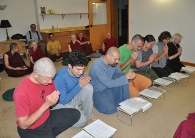 Exploring Monastic Life (EML) retreatants make a formal request for training.