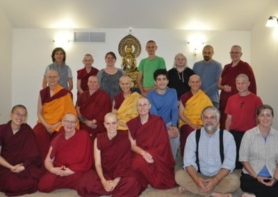 A group shot with residents and guests.  Everyone is eager to begin Exploring Monastic Life.