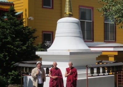 The Abbey party pays a visit at the Sakya Monastery in Seattle.