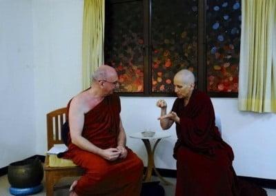 Back in Singapore, Venerable Chodron begins the teaching program at Buddha Dhamma Mandala Society, the center led by her longtime Dharma friend, Venerable Dhammika.