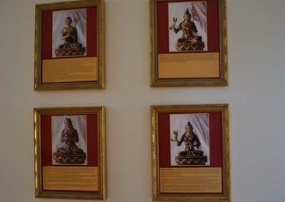 Photos of four great female Buddhist practitioners grace the walls of the nun's residence.