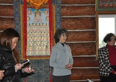 Mui, Nancy, and Cherie take a moment to reflect on compassion and bodhicitta.