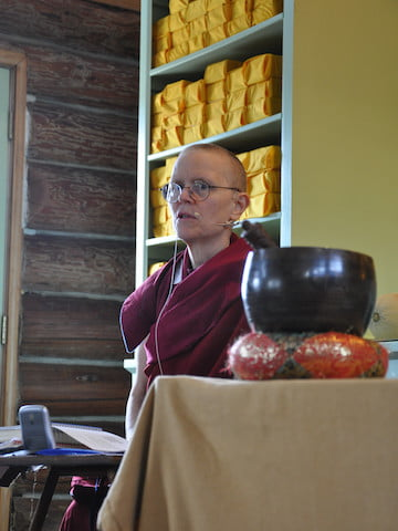 Venerable Thubten Tarpa leads a Lam Rim meditation on transforming attachment.