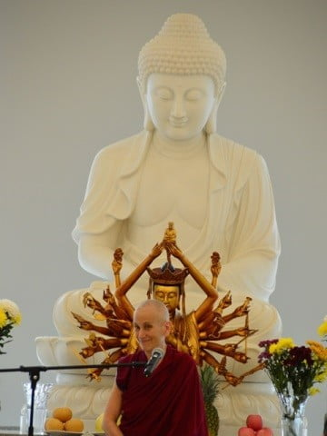 The Buddha seems to approve.