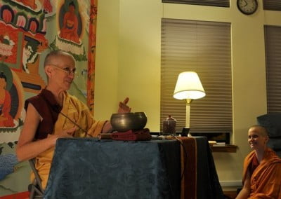 Thursday night teachings continue during the retreat with Venerable Thubten Chodron's commentary on Aryadeva'a amazing text, <cite>400 Stanzas</cite>.