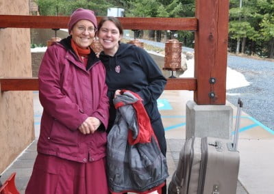 Alexis with Venerable Semkye before her departure back home.