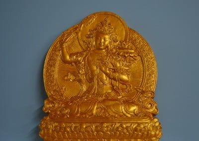 A beautiful large Manjushri tsa-tsa, made by Alaya Griffith, will be offered to each of the Manjushri participants.