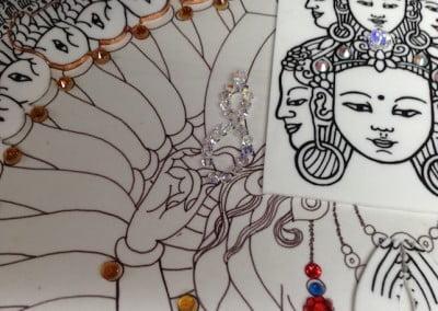 Close-up of artwork