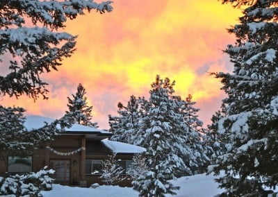 A snow covered Gotami House